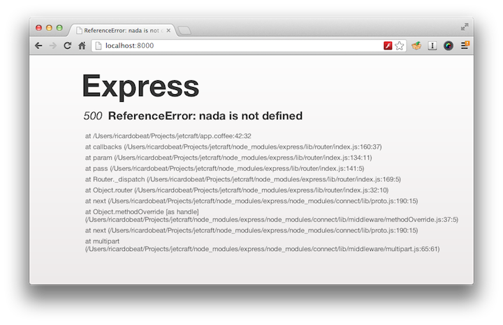 Erro do Express no browser